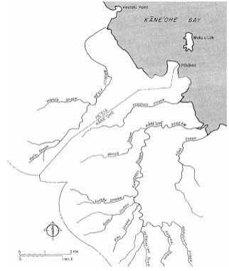 Major Streams - Kaneohe-USGS-1959