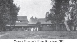 Manager's House Kualapuu-1913-Cooke