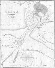 Map Detail of Honolulu Harbor-C. R. Malden_Reg640 (1825)