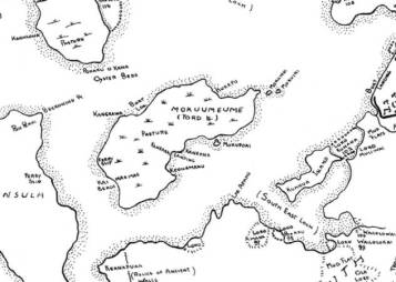 Map of Mokumeume (Ford Island) compiled from maps dated 1873 - 1915