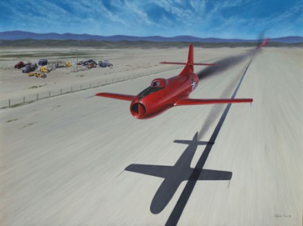 Marion E Carls speed Record attempt-Skystreak-Acrylic