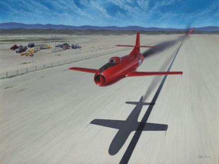 Marion E Carls speed Record attempt-Skystreak-Acrylic