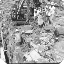 Masons repair the Alahaka Ramp-1963