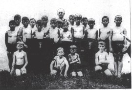 Members of the Boys class at Duncans Gymnasium-SB-May 3, 1916