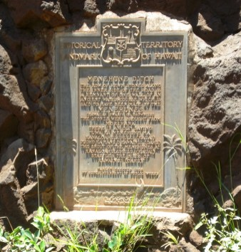 Menehune Ditch Marker