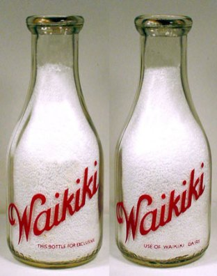 Milk Bottle from the Waikiki Dairy
