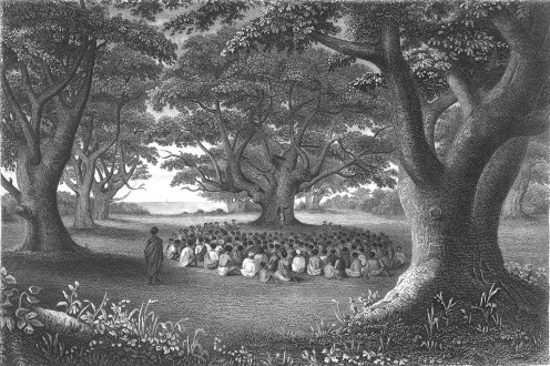 Missionaries_preaching_under_kukui_groves,_1841