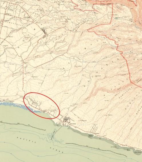 Molokai-USGS_Quadrangle-Kaunakakai-1952-portion