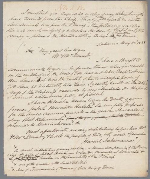 Nahienaena - Stewart May 31, 1828