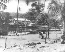 Napoopoo Pond-Lualiiloa Pond-McFarlen's Hse in Background-1920-DLNR