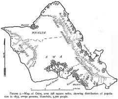 Oahu-Population_Centers-Map-1853-(note_relative_population_at_Wailupe)