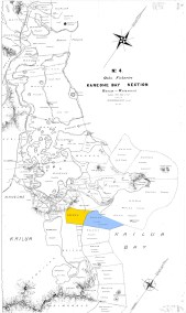 Oahu_Fisheries-DAGS2482-4-Kaneohe_Bay_Section-1913-Oneawa and Oneawa Fishery noted