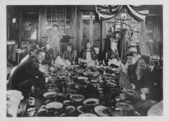 Paina including King Kalakaua and the Robert Louis Stevenson family and friends-(HSA)-PP-98-12-004
