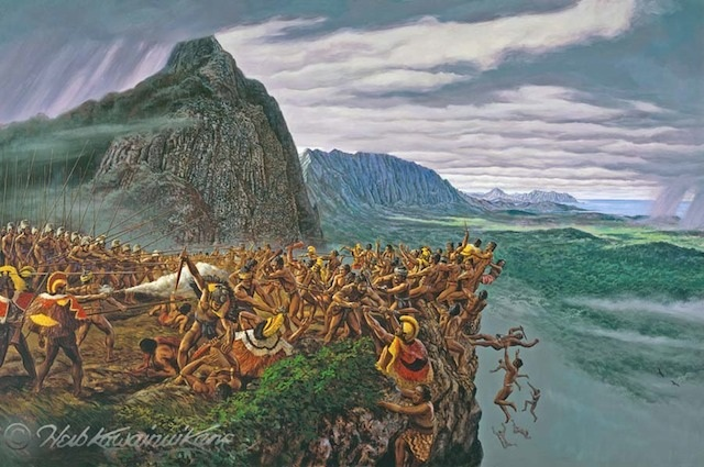 Pali-Battle_of_Nuuanu-(HerbKane)