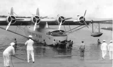 Pan American Clipper afloat off Ford Island, Pearl Harbor-PP-1-7-001-1935