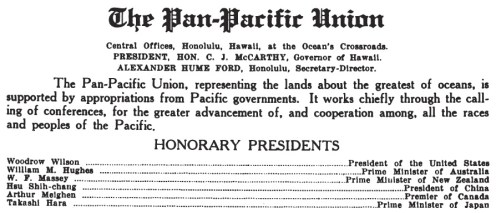 Pan-Pacific Union-1921