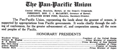 Pan-Pacific Union-1921