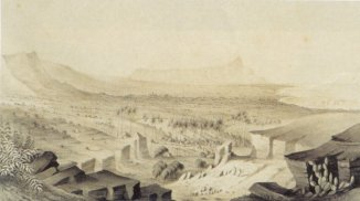 Paul_Emmert_-_'Diamond_Head_from_Aliapaakai',_c._1853-59