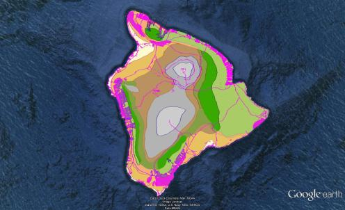 Pre-contact Footprint-Eco-systems-Hawaii Island-GoogleEarth-OHA-TNC