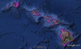 Pre-contact Footprint-Hawaiian Islands-GoogleEarth-OHA-TNC