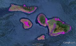 Pre-contact Footprint-Maui Nui-GoogleEarth-OHA-TNC