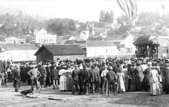 President William Howard Taft campaigning in Kalama