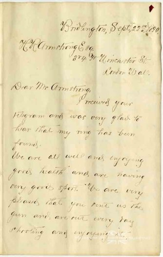 Prince Kuhio letter to the Hawaiian consul Mr Armstrong in London-Sep_22,_1890-1-MuseumOfBritishSurfing
