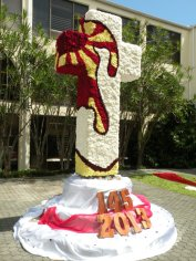 Priory_Cross-decorated_each_year_by_Junior_Class_for_Ascension_Day
