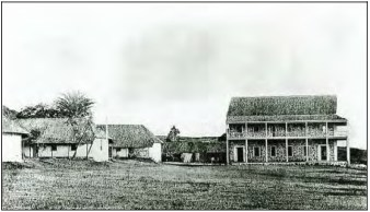 Punahou School, Photograph attributed to Charles Burgess-1866