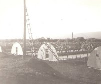 Quonset Huts constr. by B Co., 3rd Shore Party Bn, Pohakuloa Training Area, Hawaii - Dec 1956 ((c)-thecoys2)
