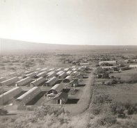 Quonset Huts constr. by B Co., 3rd Shore Party Bn. Pohakuloa Training Area, Hawaii - Dec 1956 ((c)-thecoys2)