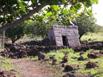 Reconstructed hale (house) at the village of Lapakahi
