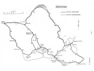 Roads considered for Interstate-Bureau of Public Roads-Oahu-1960