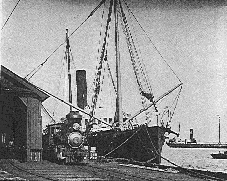 SS Claudine docked at the Claudine Wharf-(MasterPlan2025)
