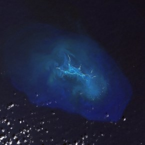 Satellite image of Maro Reef