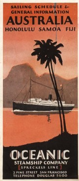 Schedule Cover of the Oceanic Steamship Co