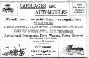 Schuman Carriage-Ad-EveningBulletin, Feb_15,_1908