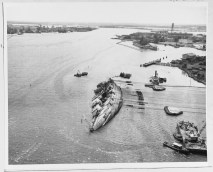 Ship righted to about 30 degrees-29 March 1943