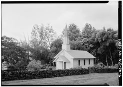 Siloama Protestant Church-from Southwest, Moloka'i Island, Kalaupapa, Kalawao County, HI-LOC