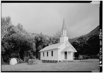 Siloama Protestant Church-general view, Moloka'i Island, Kalaupapa, Kalawao County, HI-LOC
