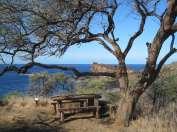 Site of Kamehameha I's house at Kaunolu Village Site, Lanai