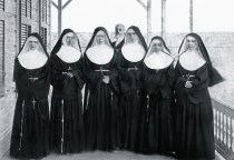 Sr. M. Rosalia, Sr. M Martha, Sr M. Leopoldina, Sr. M Charles, Sr. M. Crescentia, and Mother Marianne rear-Walter Murray Gibson-1886
