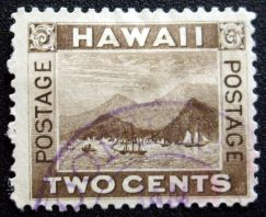 Stamp with Hoopuloa postmark