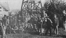 Students_at_St._Matthews_Military_Academy,_PrinceKoa, leaning against bicycle wheel-Thomas Puali'i Cummins, seated center frontc._1885