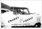 My mother, Helen Lind, with the Swanky Franky, one of the hot dog stands that began the Spencecliff restaurant empire.