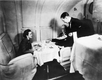 The Martin M-130 clipper's main cabin also served as a dining room-Smithsonian
