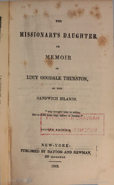 The Missionary's Daughter Cover