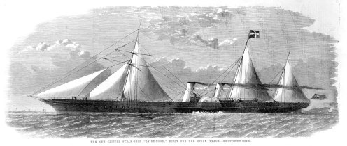 The clipper ship Le-Rye-Moon, built for the opium trade