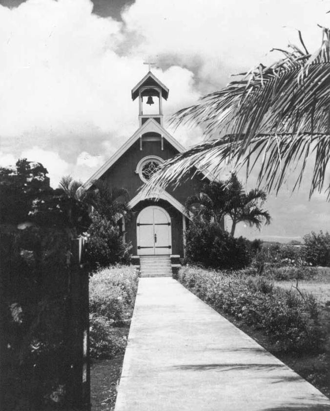 The old St George Church, ca. 1933 (StGeorgeChurchWaimanalo)