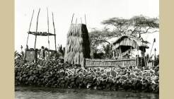 The platform of the Ahu'ena Heiau was restored by Amfac in 1950 using visible alignments for the foundation-(Ahuena Heiau Inc)